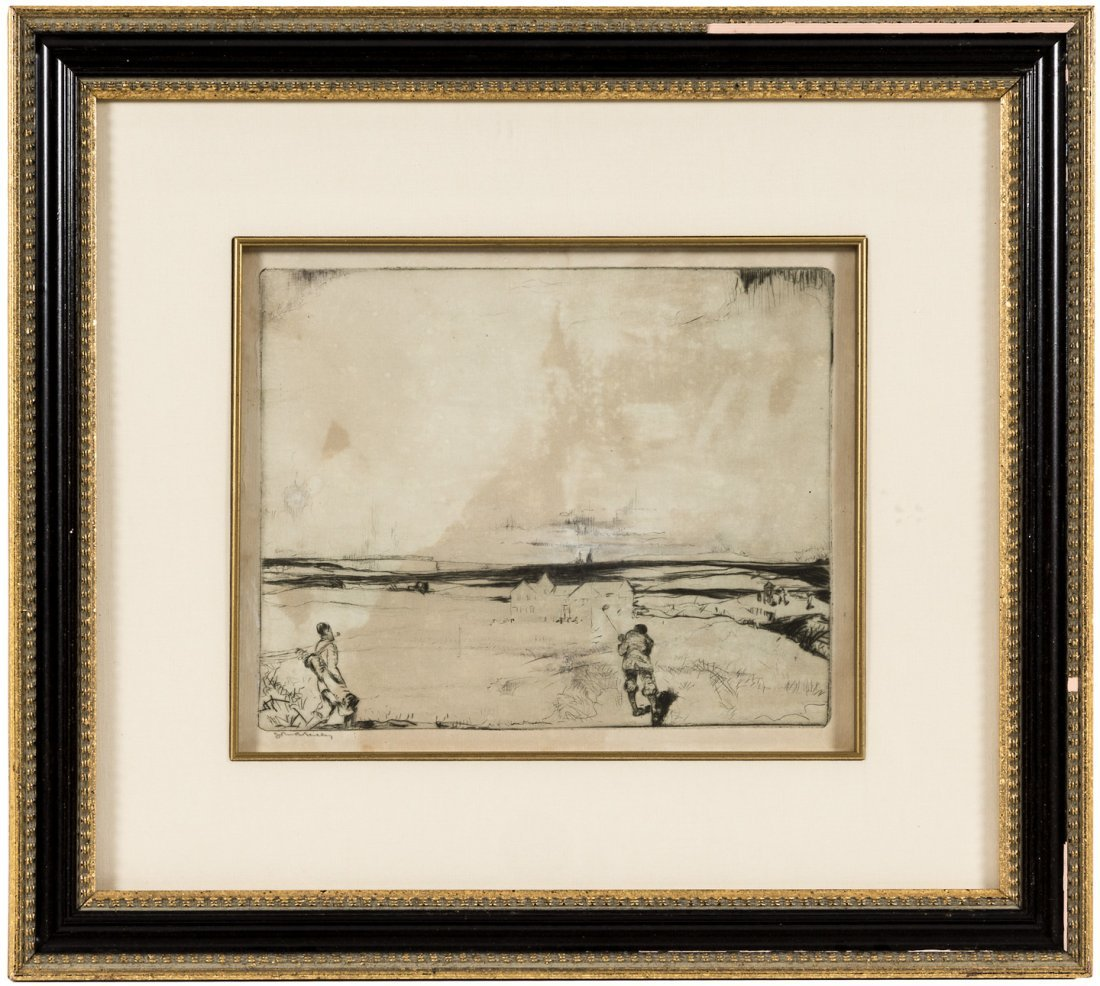 The Home Hole AP etching signed by John R. Barclay