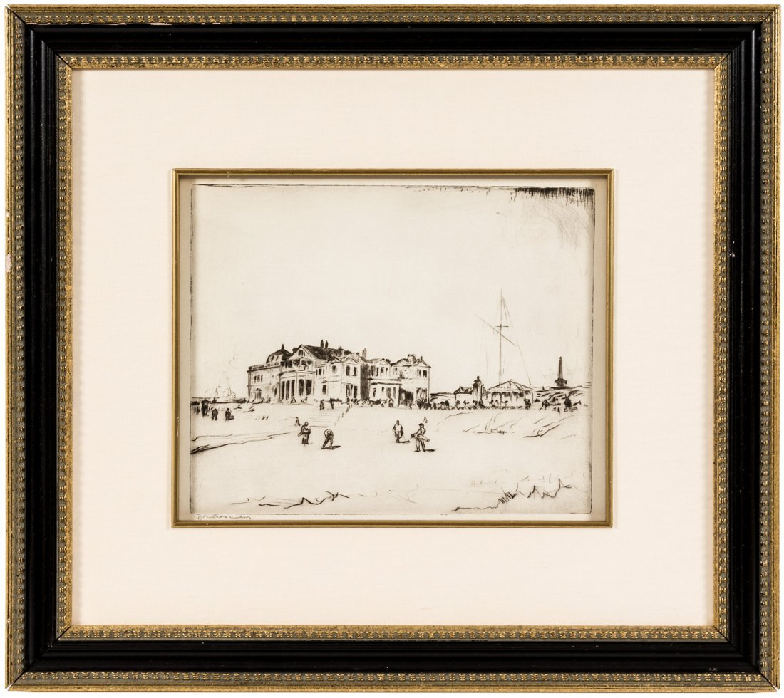Royal & Ancient Clubhouse etching signed by John R