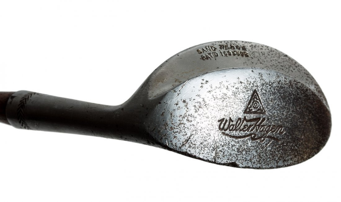 1928 Walter Hagen sand wedge with concave face