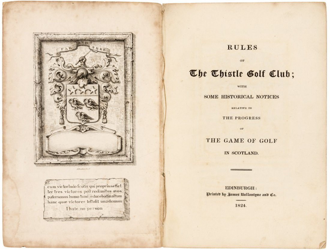 Rules of Thistle Golf Club 1st edition in original