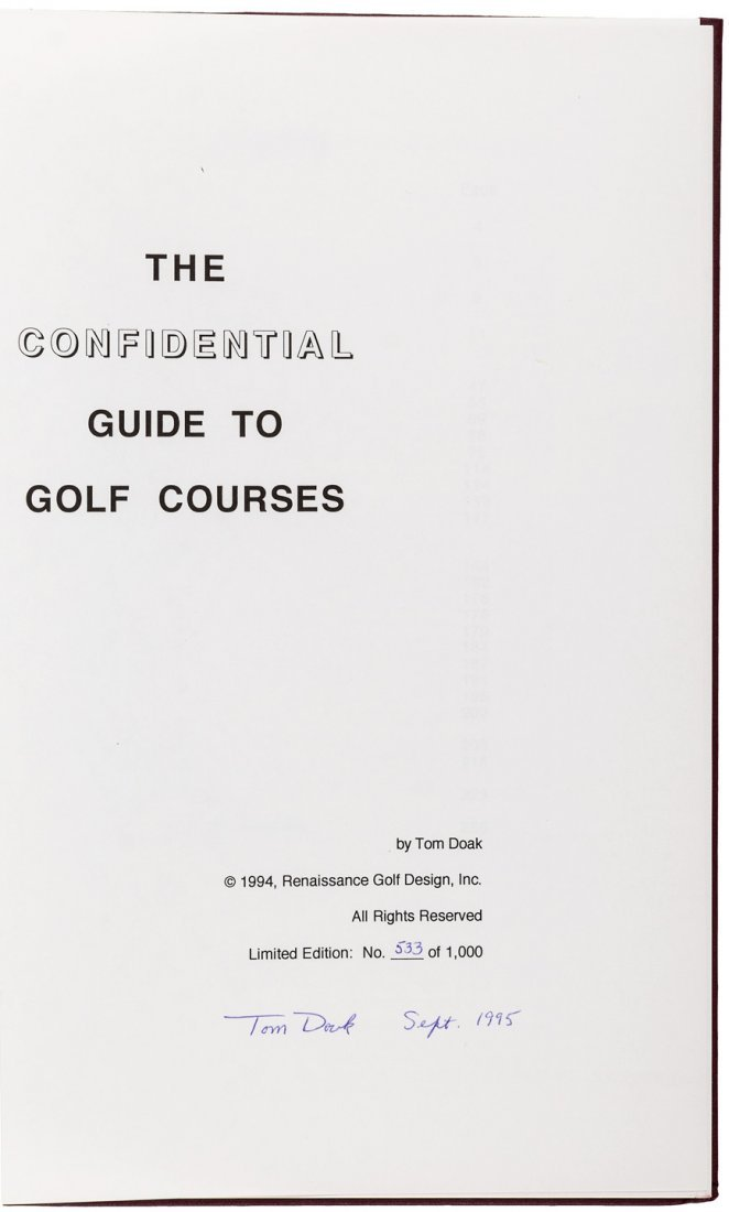 The Confidential Guide to Golf Courses 1/1000 - 2