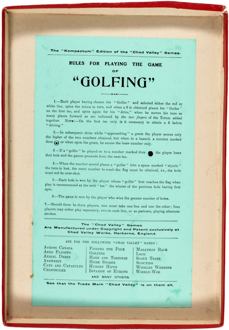 Golfing the Great Indoor Golf Game 1911 - 4