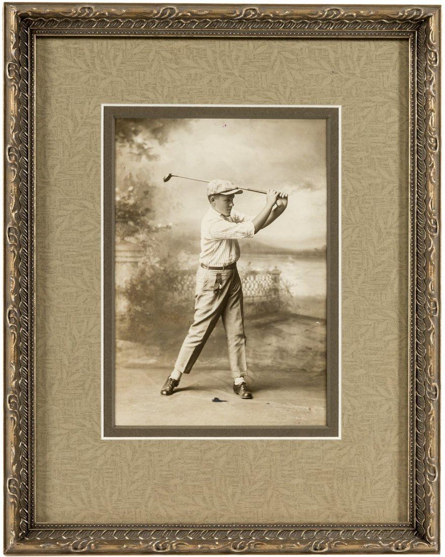 1916 original photograph of a young Bobby Jones