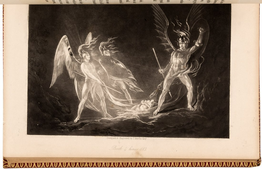 Milton's Paradise Lost with John Martin Mezzotints