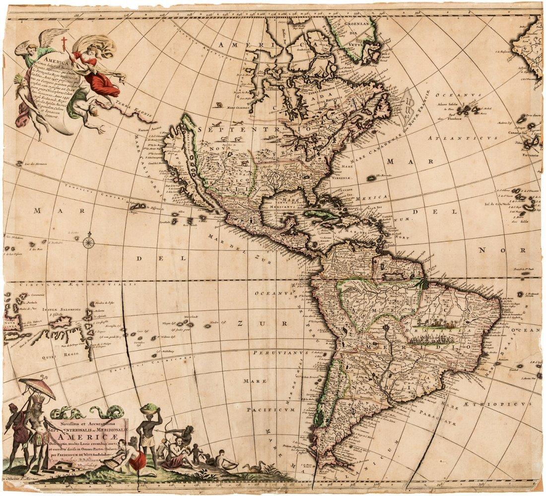 Americas with California an Island