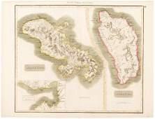 Map of Martinique & Dominica