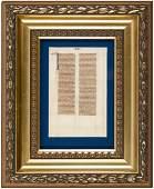 Illuminated Bible leaf on vellum