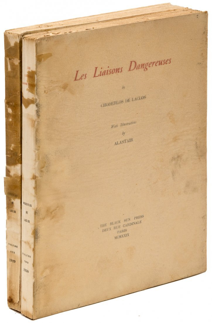 Alastair illustrated Les Liaisons Dangereuses in 2 vols
