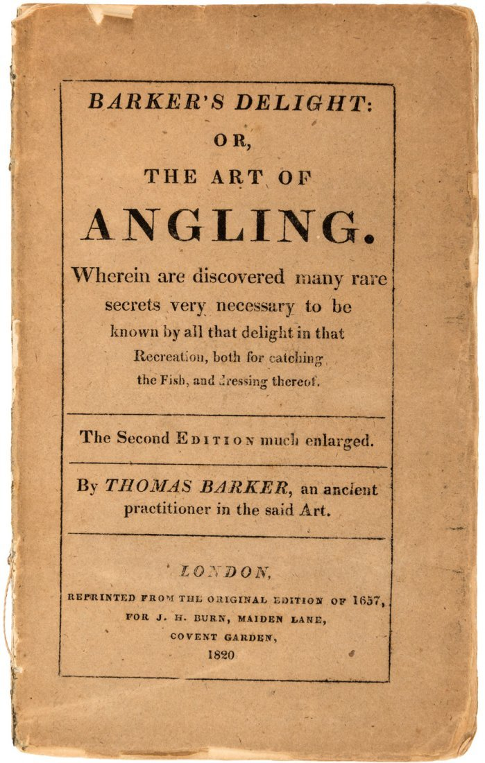 Thomas Barker's Art of Angling