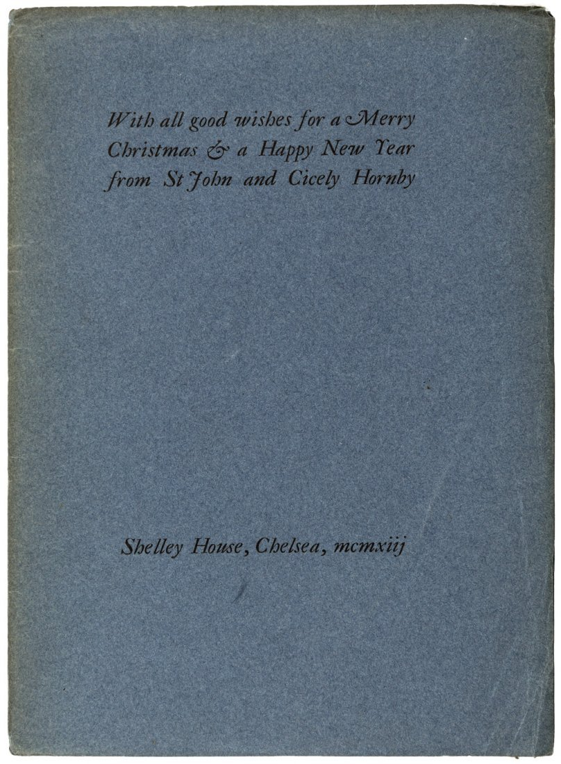 Rare Ashendene Press Christmas Greeting 1913