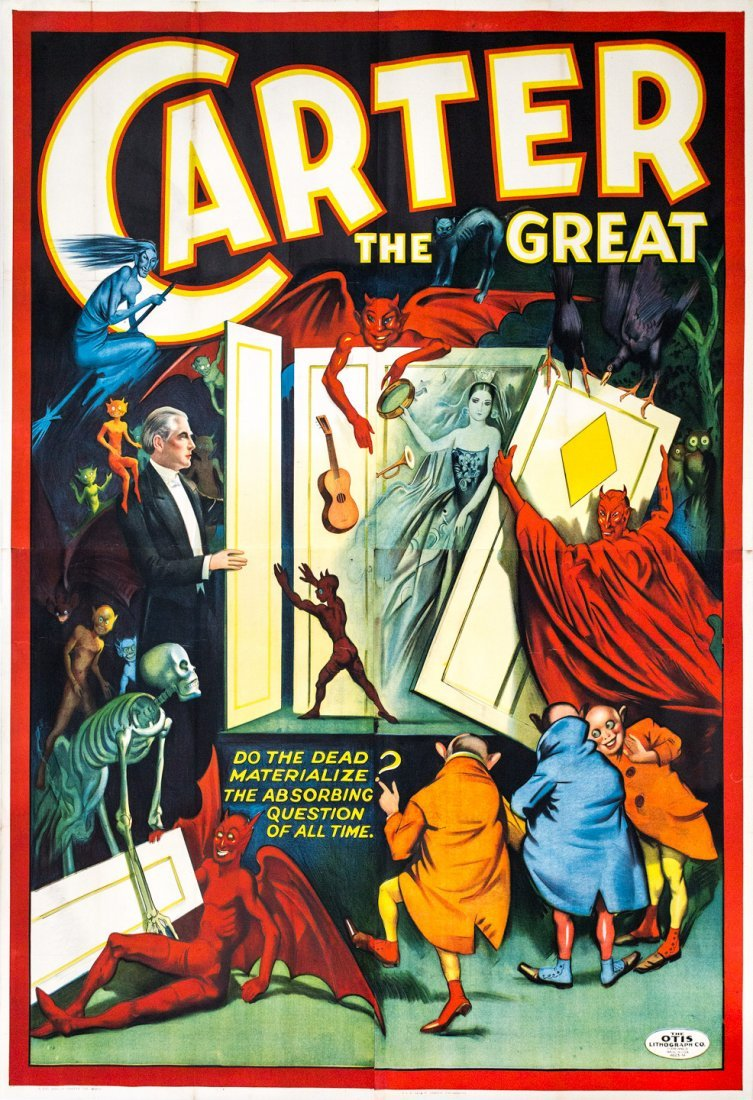 Large color litho poster for Carter the Great magician