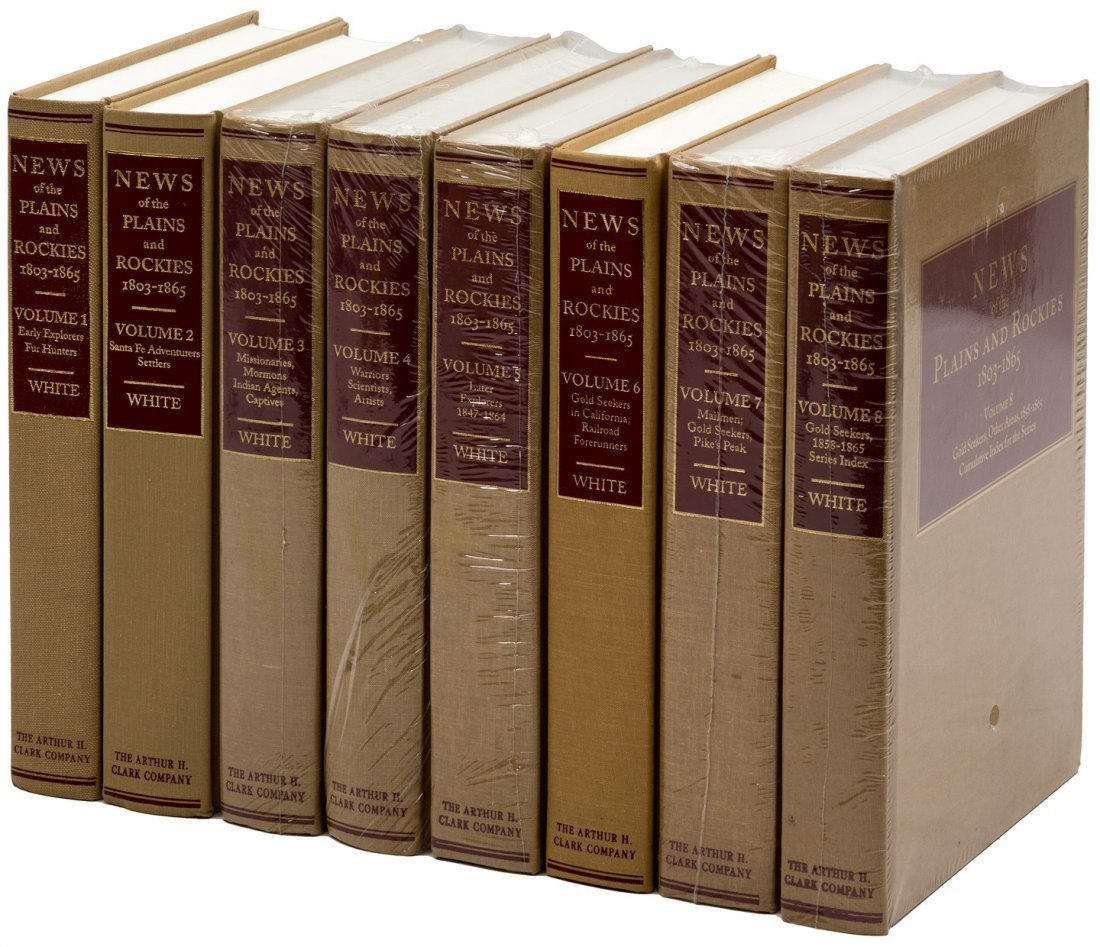 8 volume Art H. Clark News of the Plains & Rockies