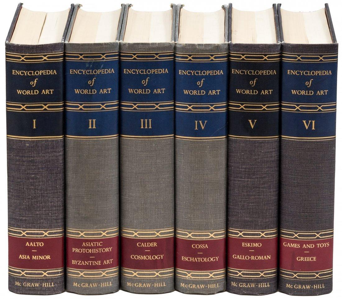 15 volumes Encyclopedia of World Art 1959-68