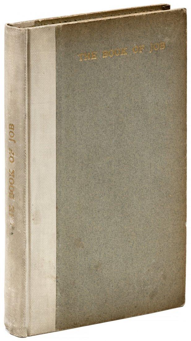 The Book of Job Roycroft Press illuminated