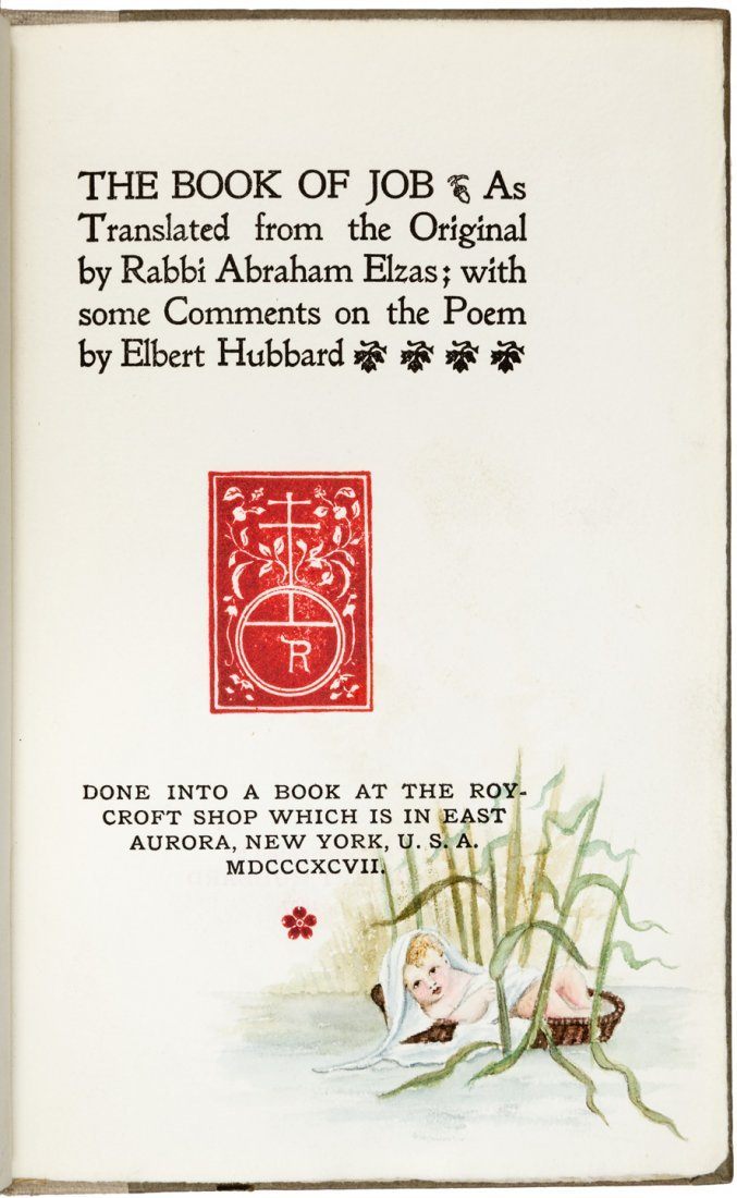 Roycroft Press Book of Job 1/40 special copies