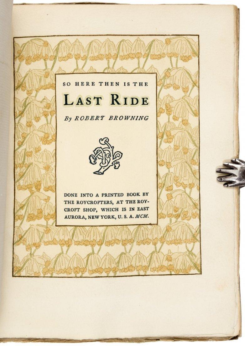 Browning's Last Ride Roycroft Press