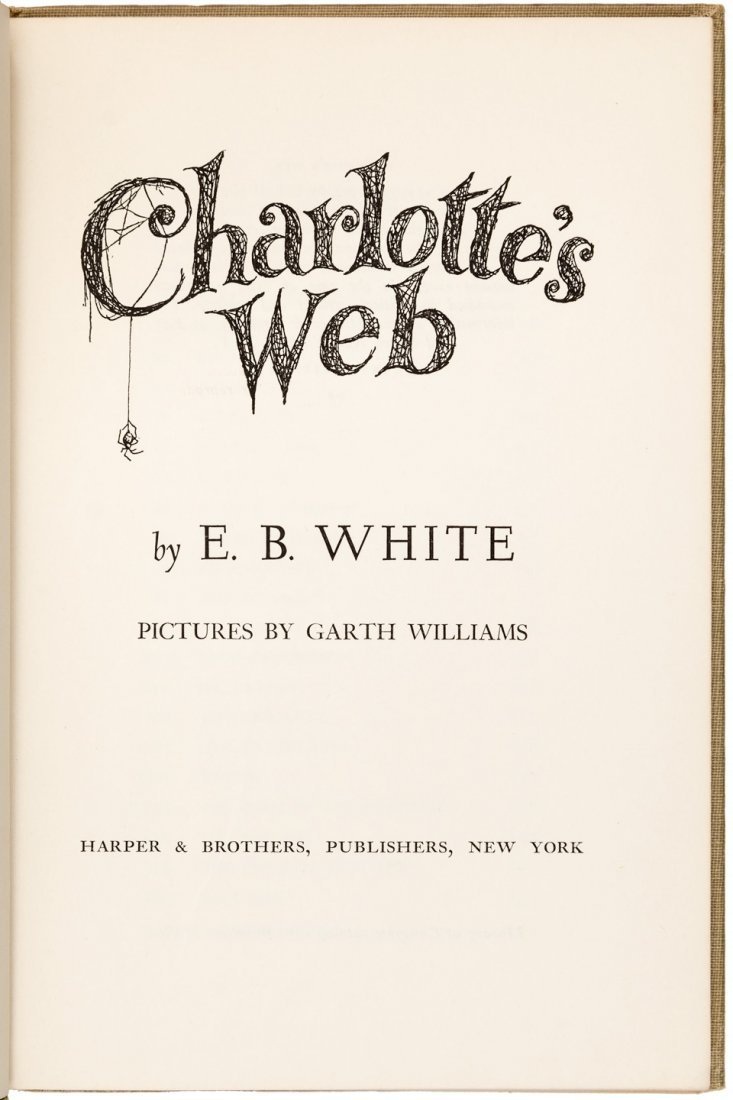 Charlotte's Web First Edition in dust jacket - 2