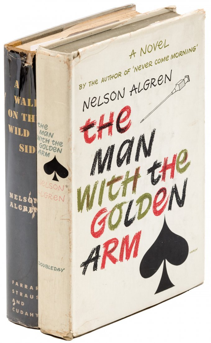 Two novels by Nelson Algren incl. Man with Golden Arm