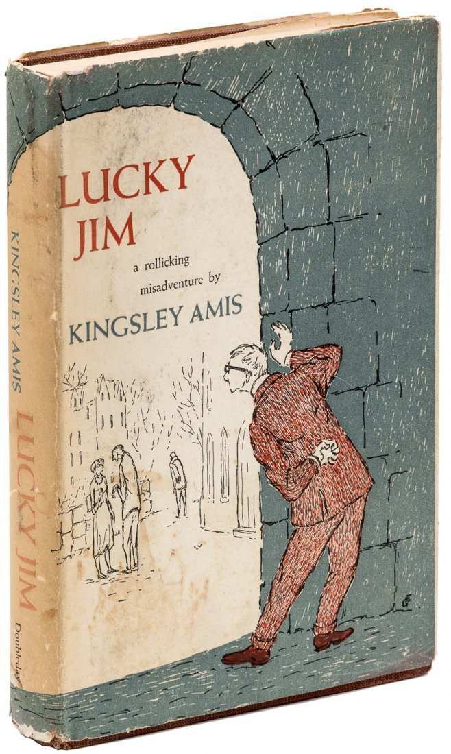 Lucky Jim first edition in dust jacket designed by E.