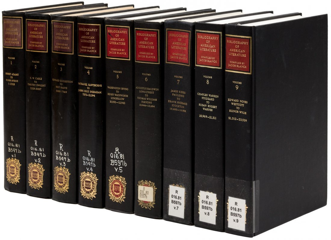 Bibliography of American Literature 9 volumes