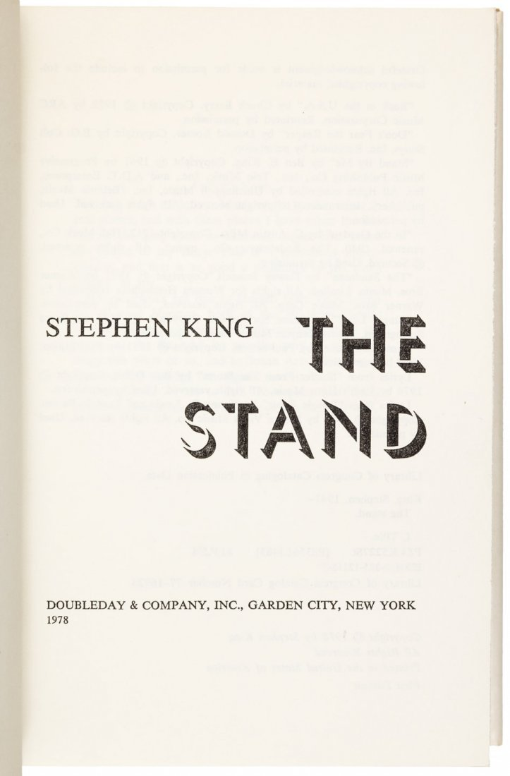 Stephen King The Stand First Edition - 2