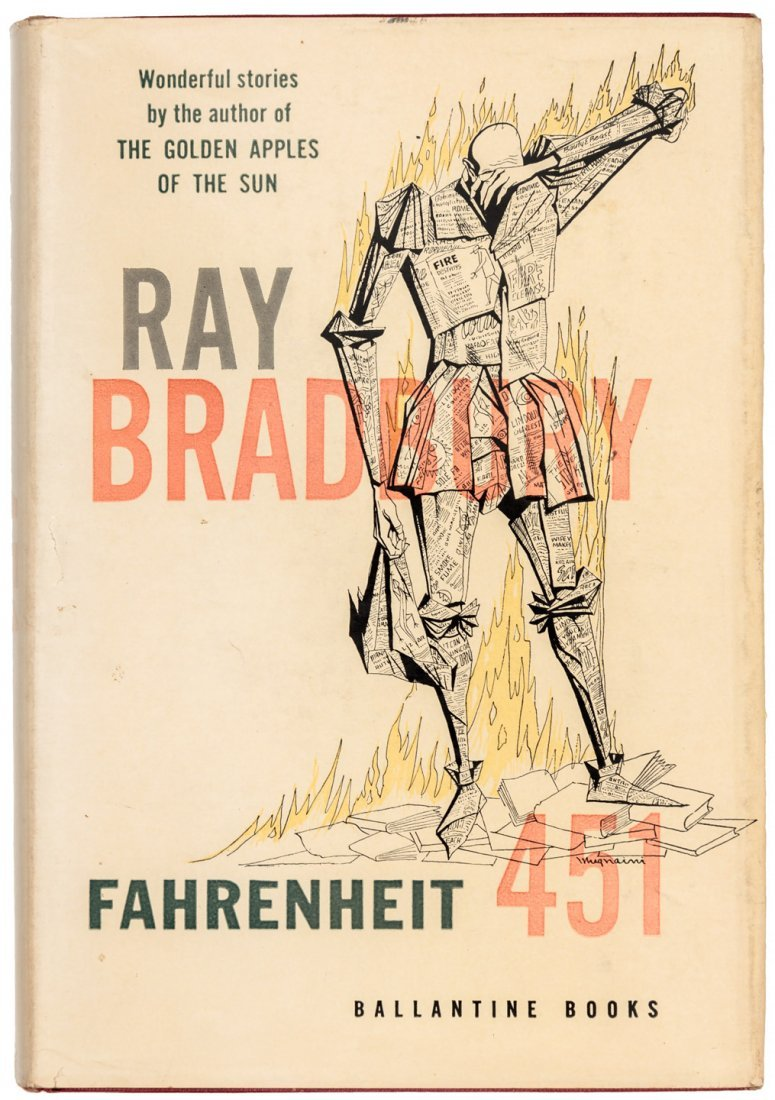 Fahrenheit 451 signed by Bradbury