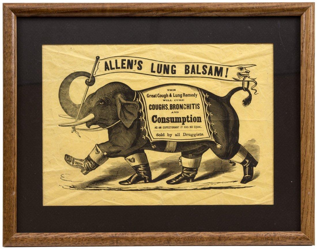 Advertising broadside with elephant image
