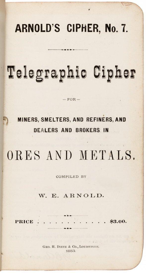 Rare mining cipher book 1883