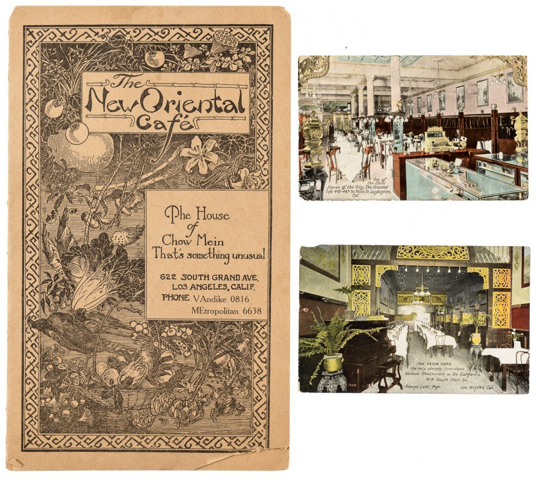 3 items 1910-1922 Los Angeles Restaurants
