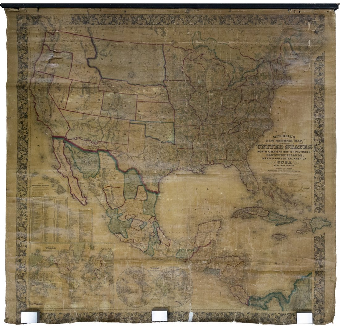 Mitchell Wall Map of United States 1861