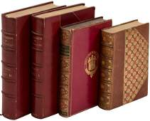 Three finely bound works in four volumes