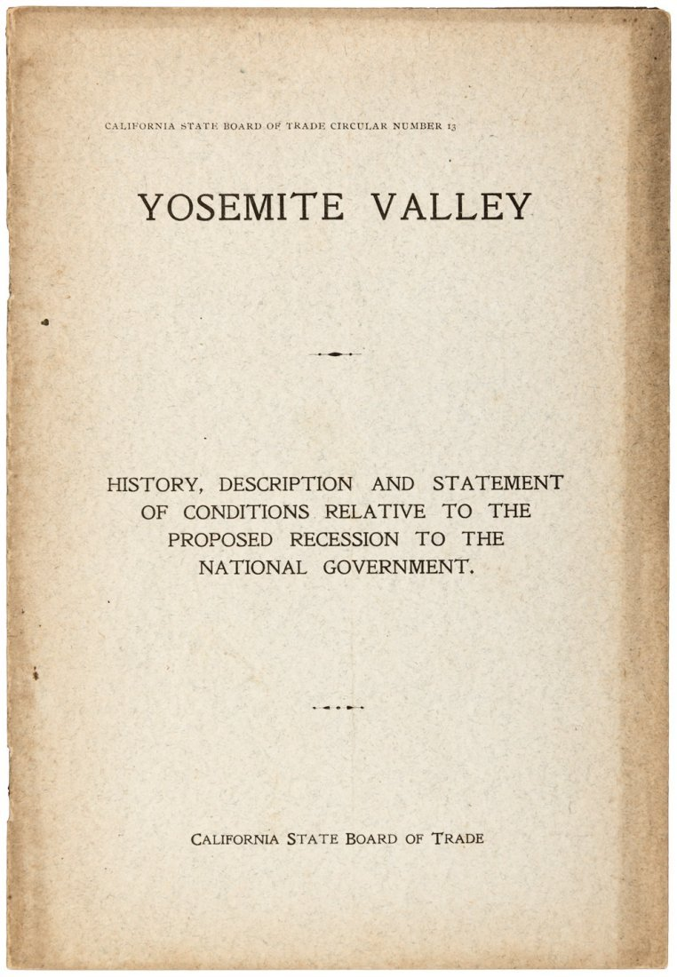 The Recession of Yosemite Valley to the National