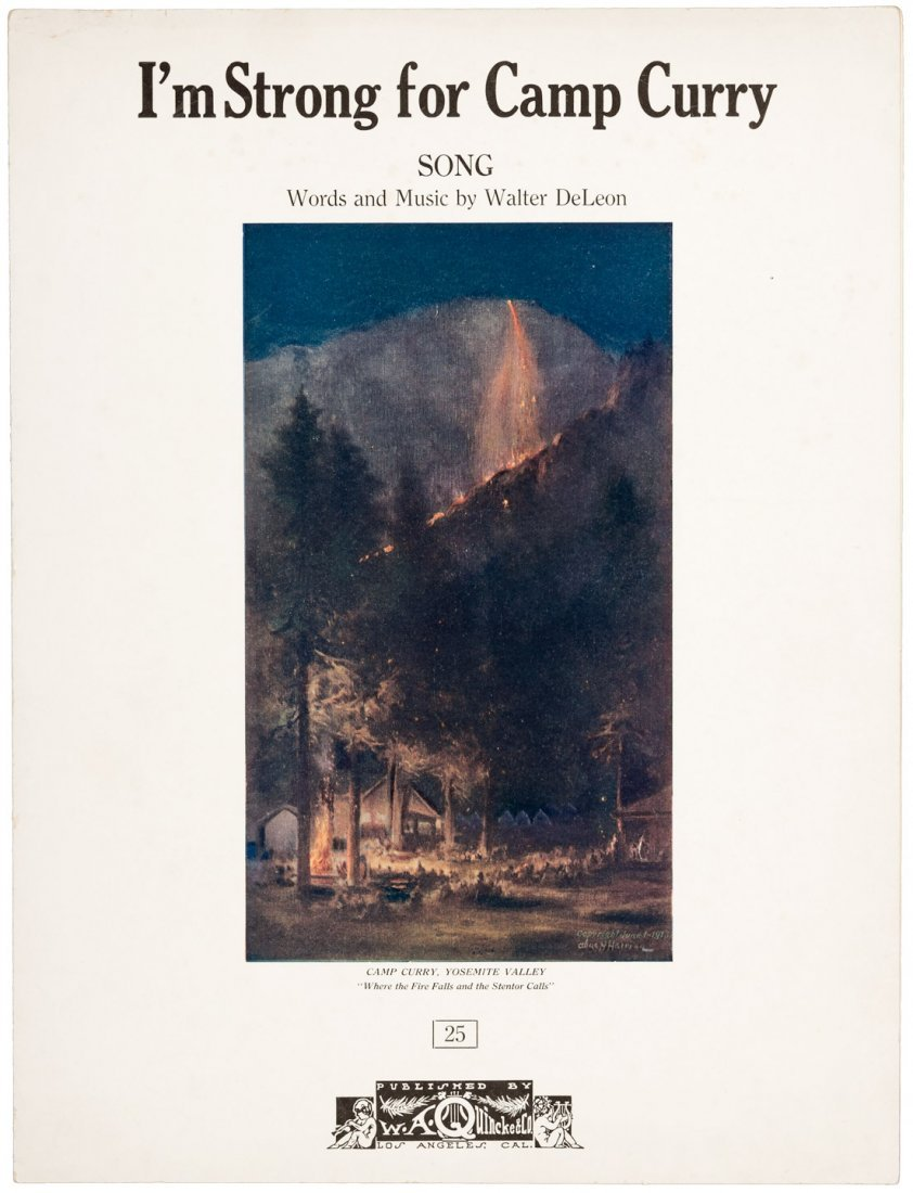 Yosemite Sheet Music Strong for Camp Curry