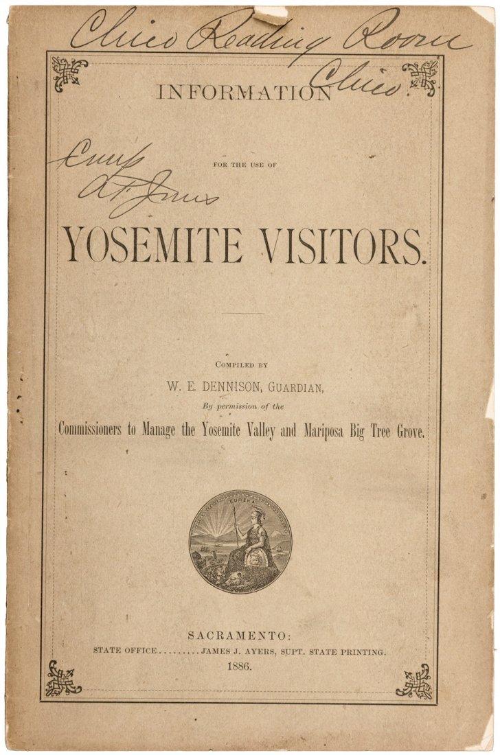 Info for Yosemite Visitors 1886