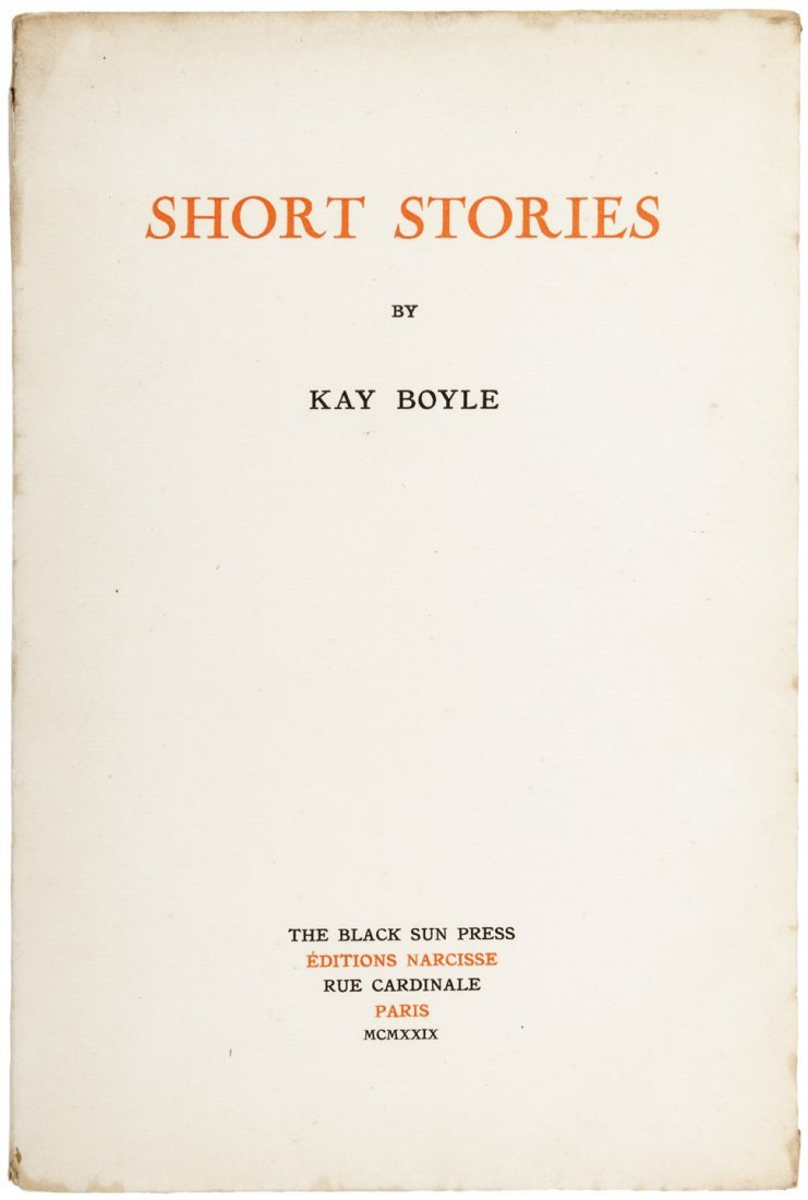 Kay Boyle Short Stories FIrst Edition First Book
