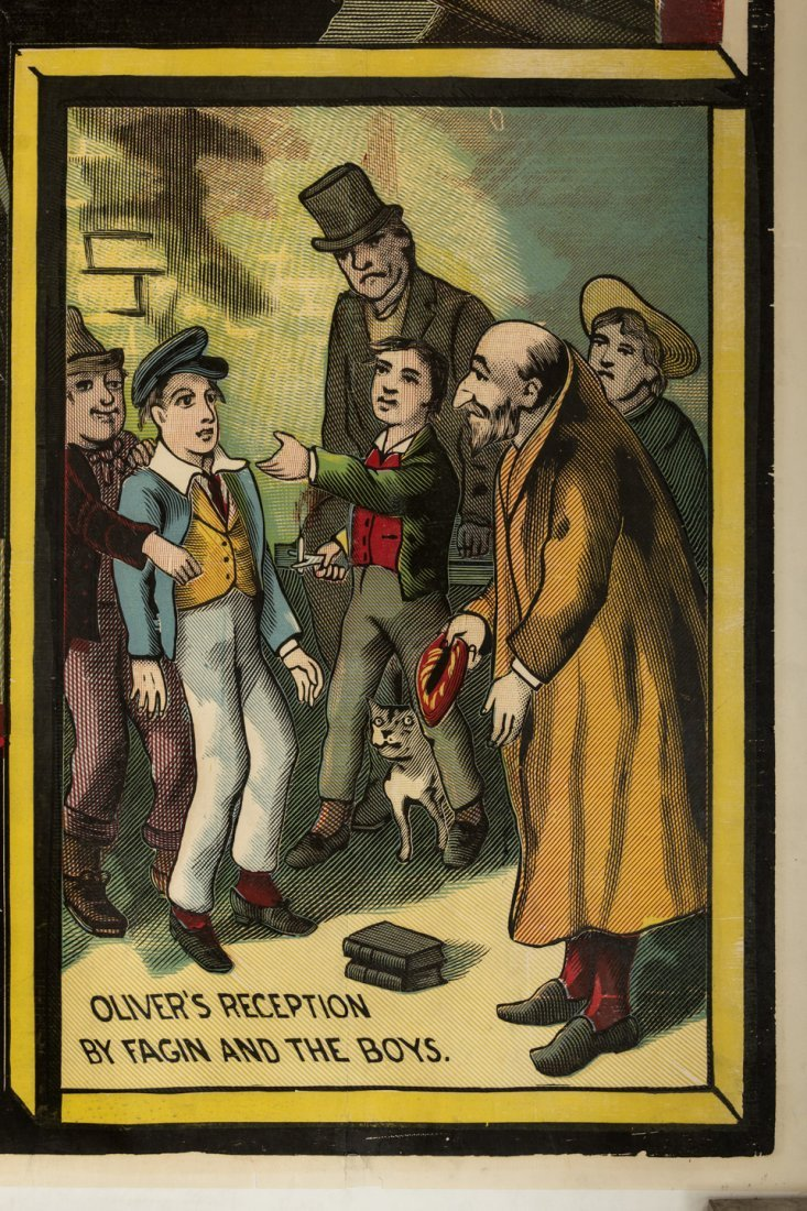 Dickens Poster with Fagin the Jew 1880s - 2