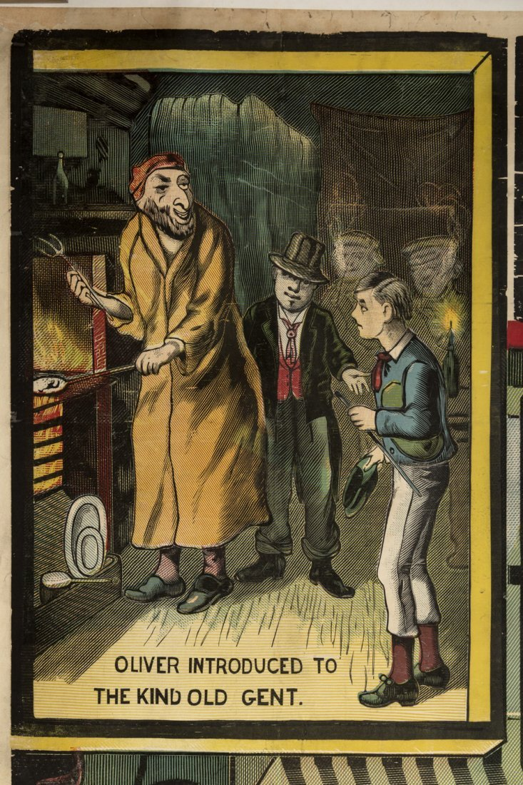 Dickens Poster with Fagin the Jew 1880s - 3