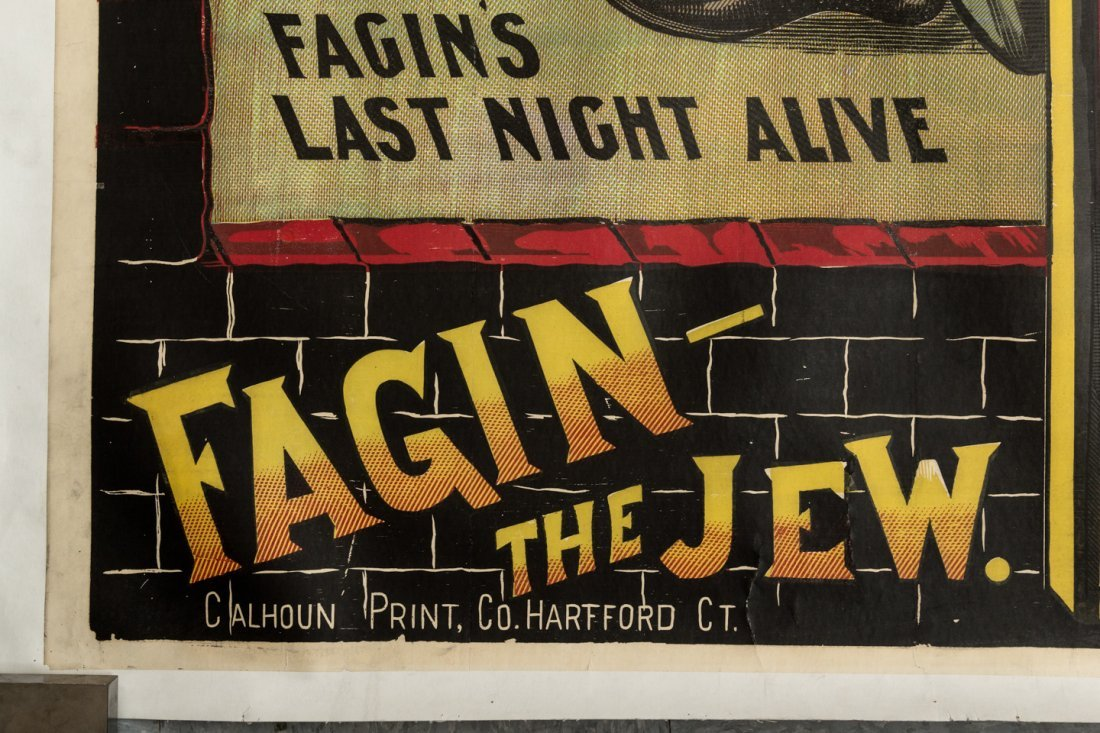 Dickens Poster with Fagin the Jew 1880s - 4