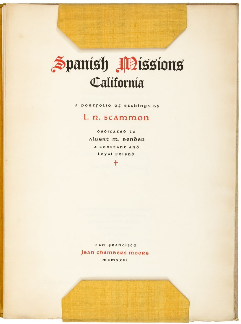 Spanish Missions California etchings by Scammon