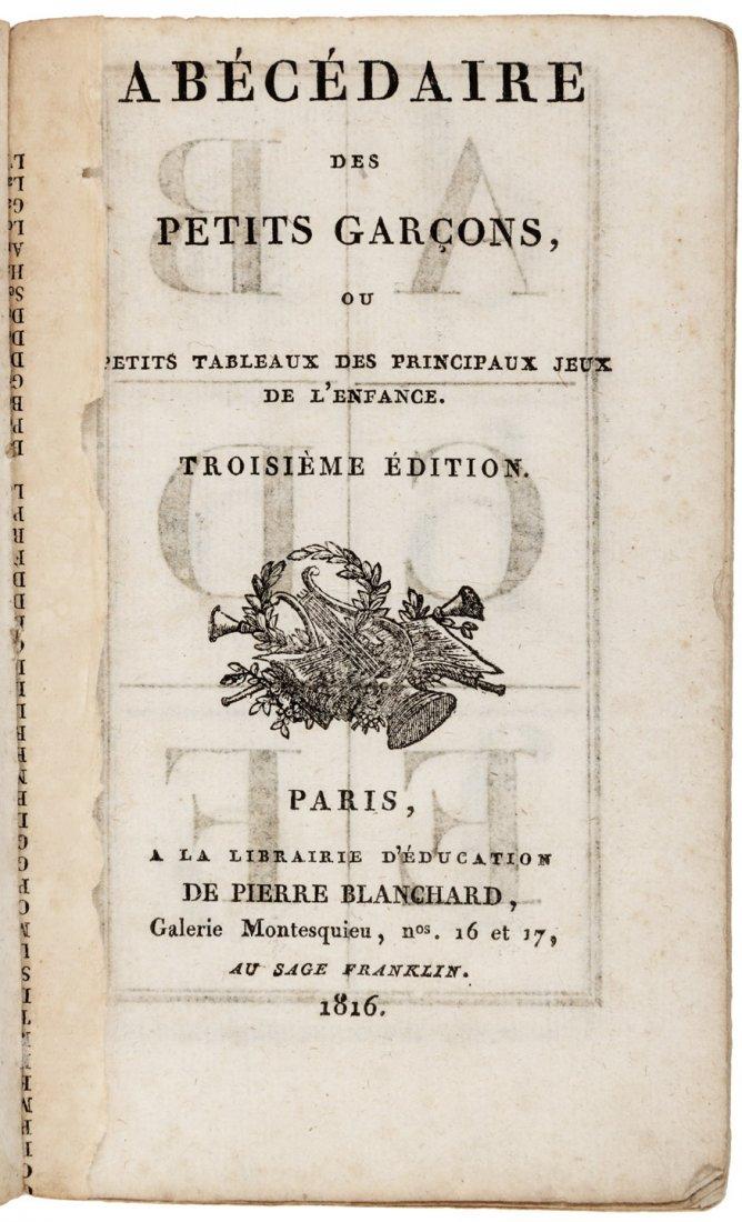 French alphabet book 1816