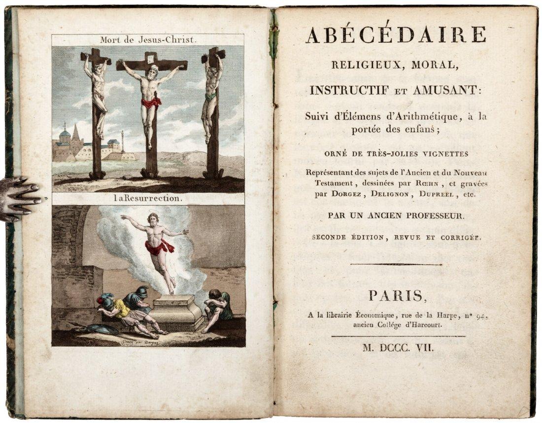 Religious French alphabet book 1807