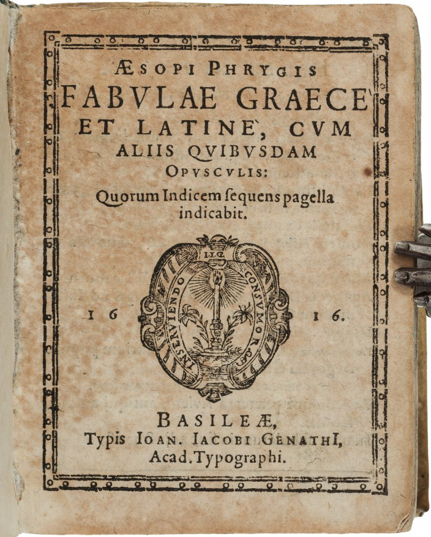 Aesop's fables in Latin and Greek 1616