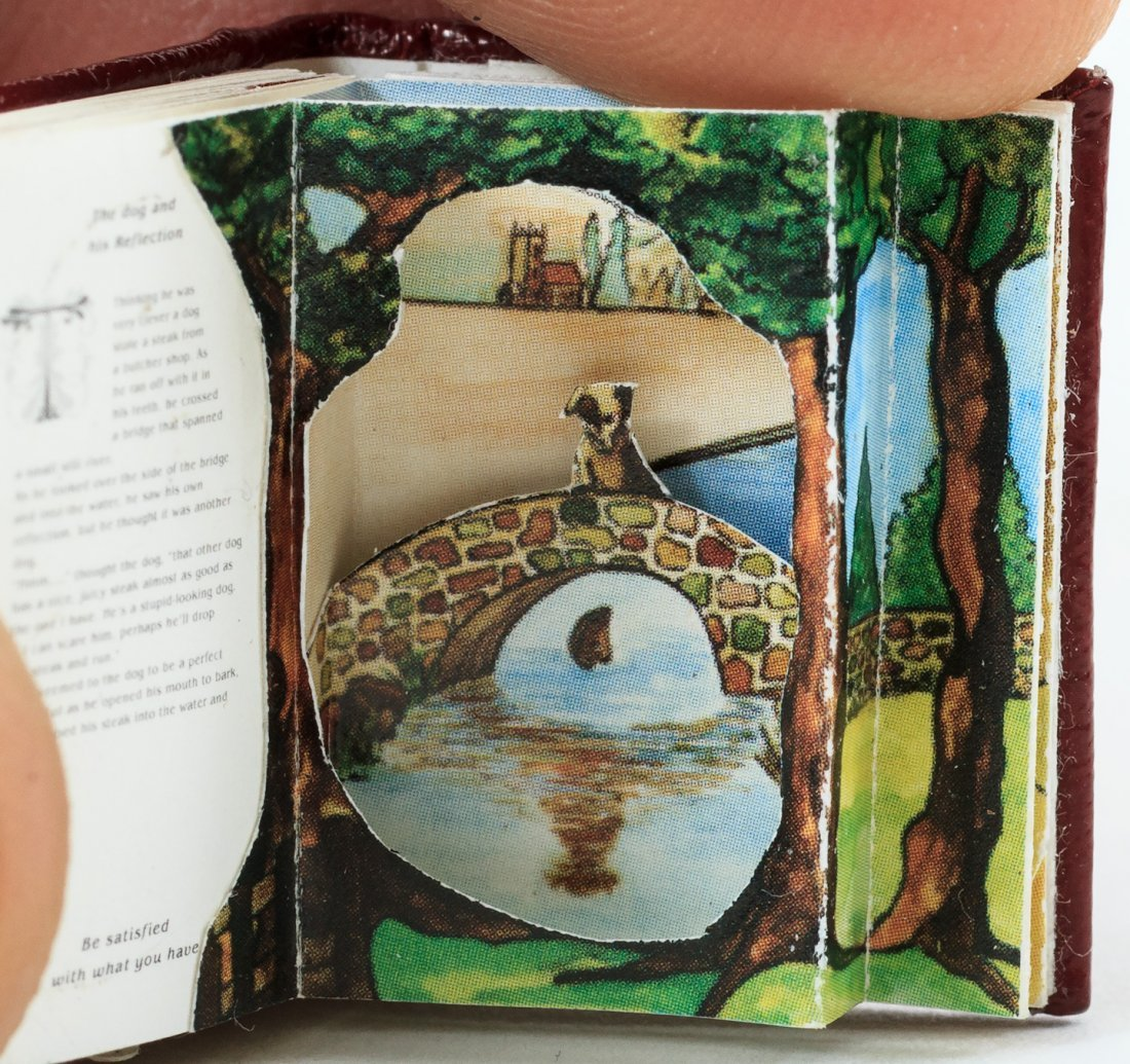 Miniature pop-up book of fables