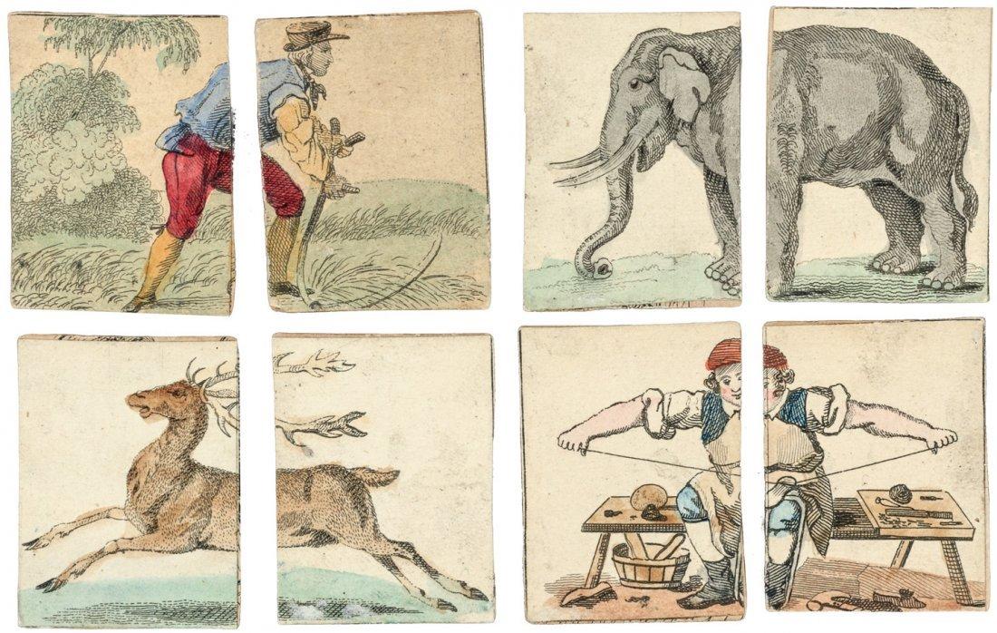 Rare set of Children's puzzle cards
