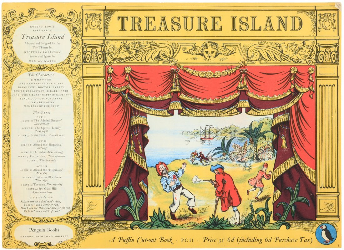 Treasure Island Puffin Cut-Out Book