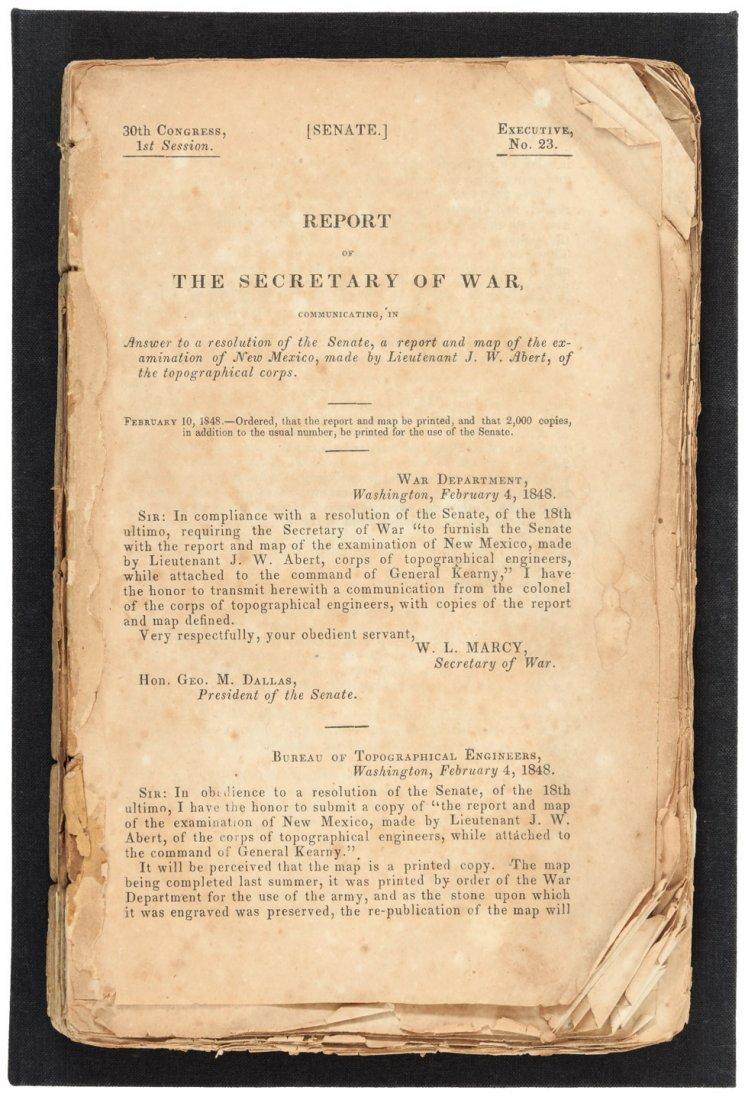 Abert's Report on New Mexico 1848