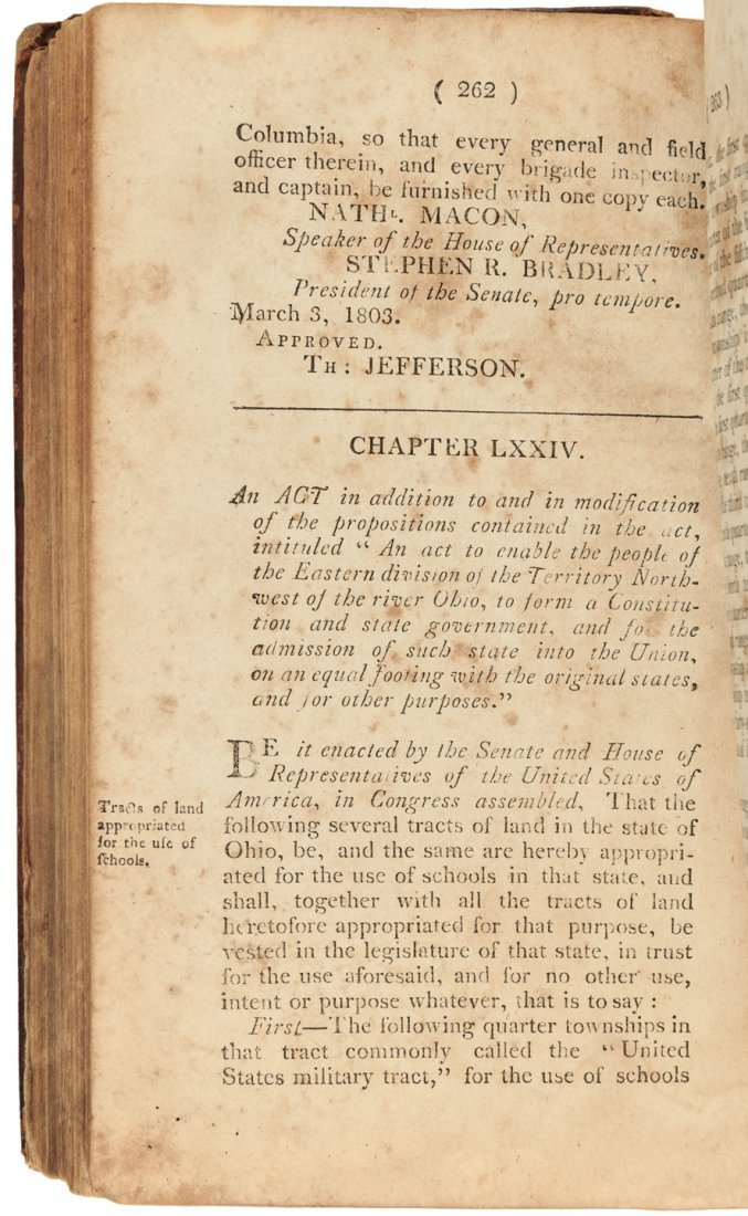 Acts of the Seventh Congress 1803 Indian Treaties