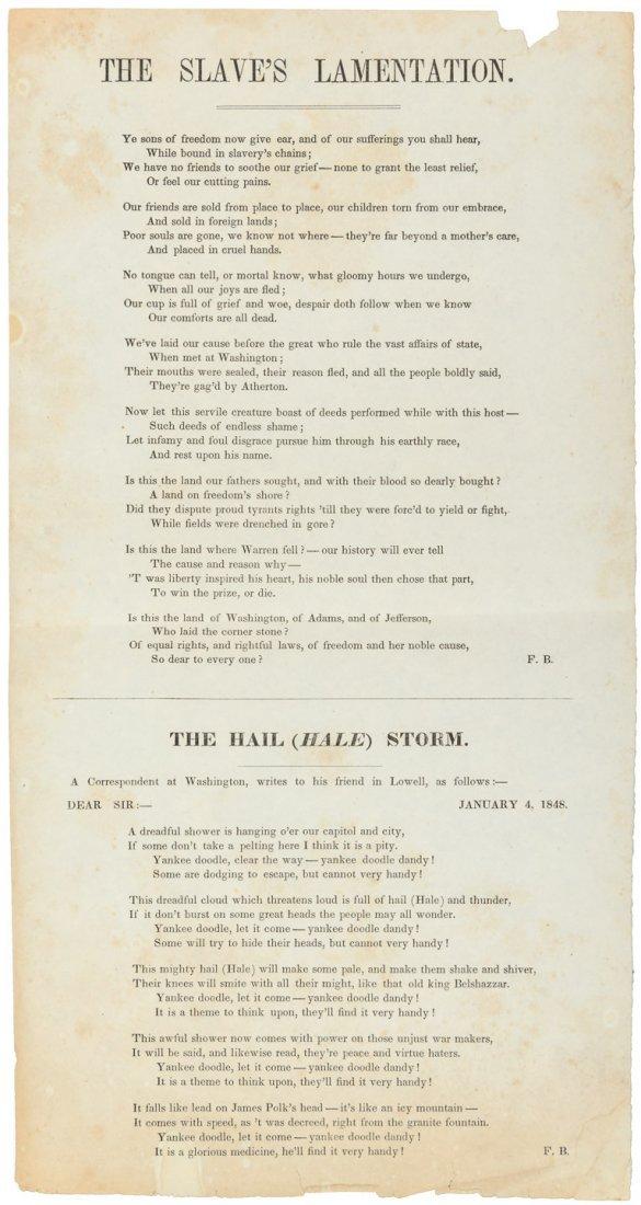 Aboltionist broadside 1848