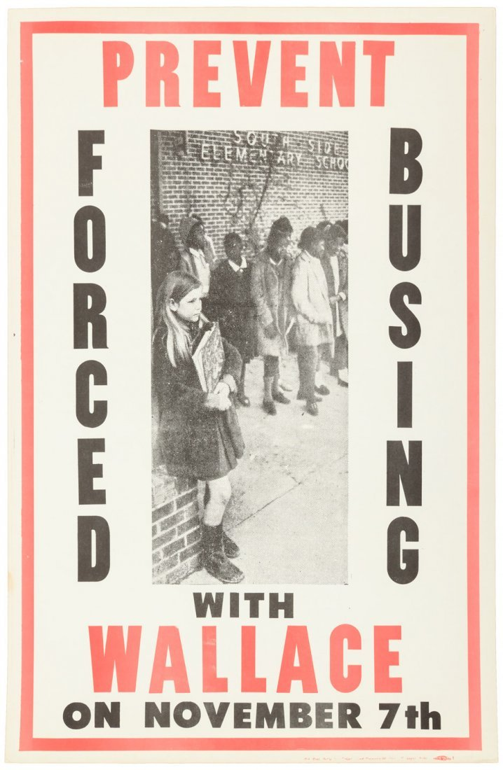 Poster against forced busing
