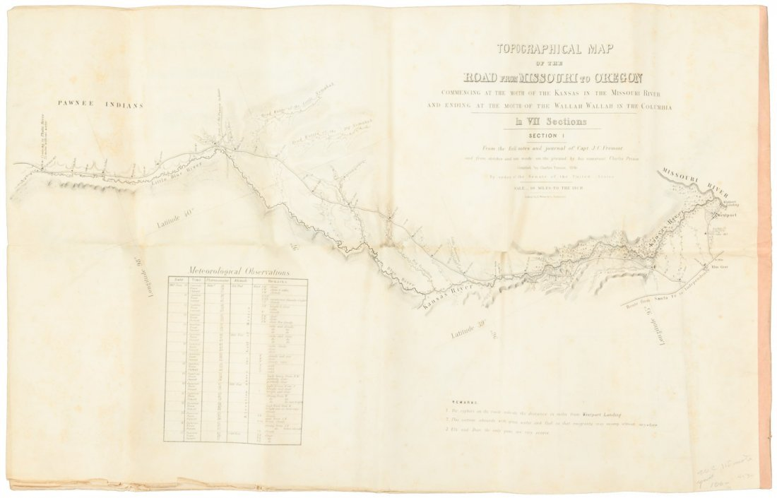 Preuss' Topographical Map on 7 sheets 1846